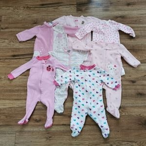 Other - Lot Of 7 Baby Girl Sleepers Calvin Klein Carter's